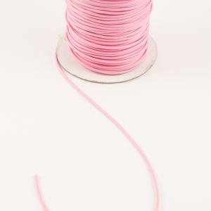 Waxed Linnen Cord Pink (1.2mm)