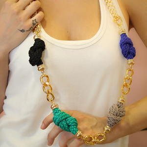 Necklace Knitted Cord Chain