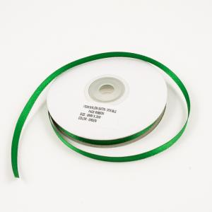 Satin Double Face Ribbon Green 6mm