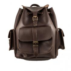 Leather Backpack Dark Brown (31x24cm)