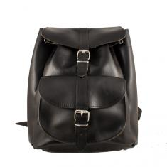 Leather Backpack Black (34x29cm)