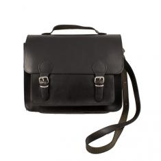 Leather Bag Black (29x23.5cm)