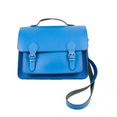 Leather Bag Electric Blue 29x23.5cm