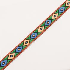 Ribbon Multicolored Rhombi