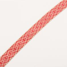 Ribbon Beige-Red Designs