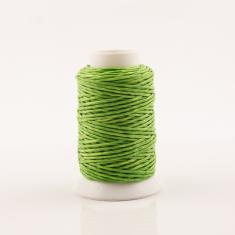 Waxed Cotton Cord Lime Green  30m