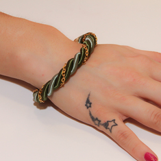 Bracelet Twisted Cord Khaki