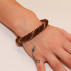 Bracelet Twisted Cord Brown
