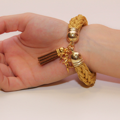 Bracelet Knitted Cord Gold