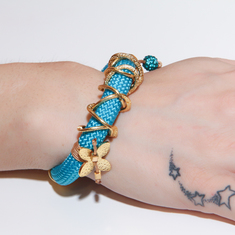 Bracelet Mountaineering-Chain Light Blue