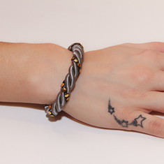 Bracelet Twisted Cord with Braid