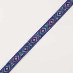 Ethnic Ribbon Blue 18mm