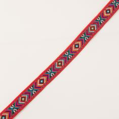 Ethnic Ribbon Red 18mm