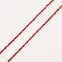 Polygonal Beads Red 2mm
