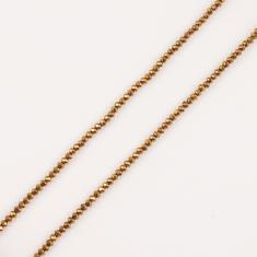 Polygonal Beads Copper 3mm