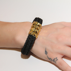 Bracelet Knitted Black