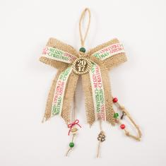 Charm Burlap Bow Wishes Ribbon