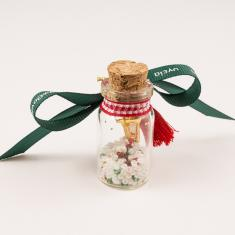 Charm Bottle Wishes Ribbon Green