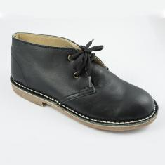 Leather Boots Black with Seam