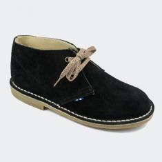Suede Boots Black with Seam