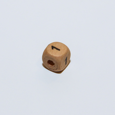 "Wooden Cube Number ""1"""