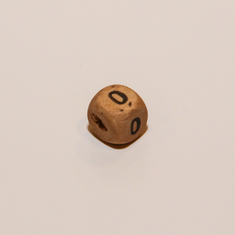 "Wooden Cube Number ""0"""