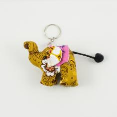Keyring Elephant Yellow 8x6cm