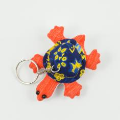 Keyring Turtle Orange 8x6.5cm