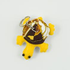Keyring Turtle Yellow 8x6.5cm
