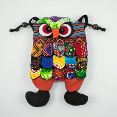Cloth Bag Owl Multicolored