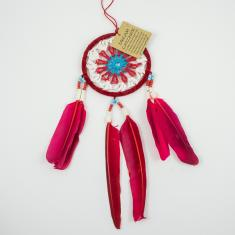 Dream Catcher Feathers Red 25x9cm