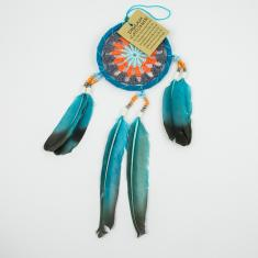 Dream Catcher Feathers Turquoise 25x9cm