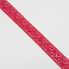 Knitted Ribbon Red 2.5cm