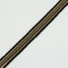 Ribbon with Chain Black-Bronze 20mm