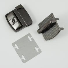 Bag Clasp Black Nickel 4.6x4.5cm