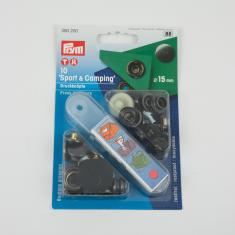 Fasteners Prym Black for Cloths 15mm