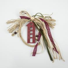 Charm Jute House Wooden Burgundy