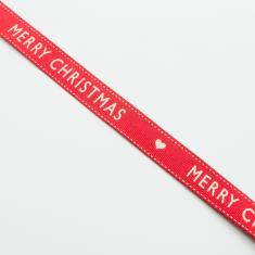 "Red Ribbon ""Merry Christmas"""