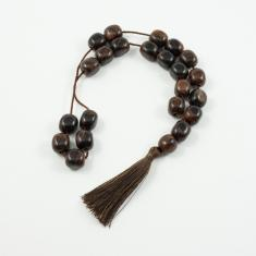 Worry Beads Obsidian Brown 1.3x1.1cm