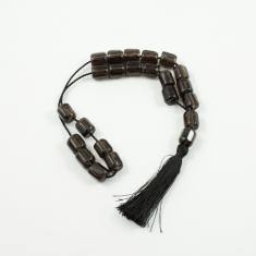 Worry Beads Obsidian Black 1.3x1cm