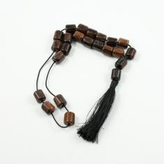 Worry Beads Obsidian Brown 1x1.1cm