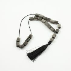 Worry Beads Obsidian Gray 1.1x1cm