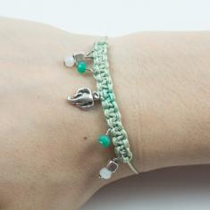 Bracelet Light Green-Elephant Silver