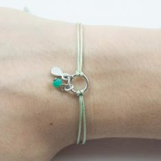 Bracelet Light Green-Motif Tear