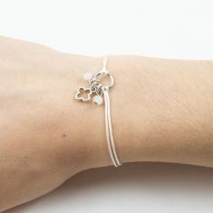 Bracelet White-Cross Silver