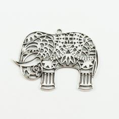 Metallic Perforated Elephant