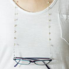 Eyewear Chain Pearl White