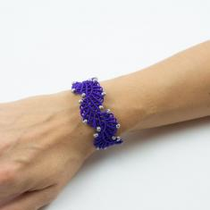 Macrame Bracelet Purple Wave