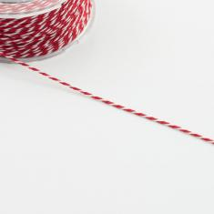 Synthetic Cord Red-White 1mm