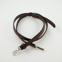 Leatherette Bag Strap Brown